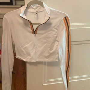 LF Cropped long sleeve quarter zip up